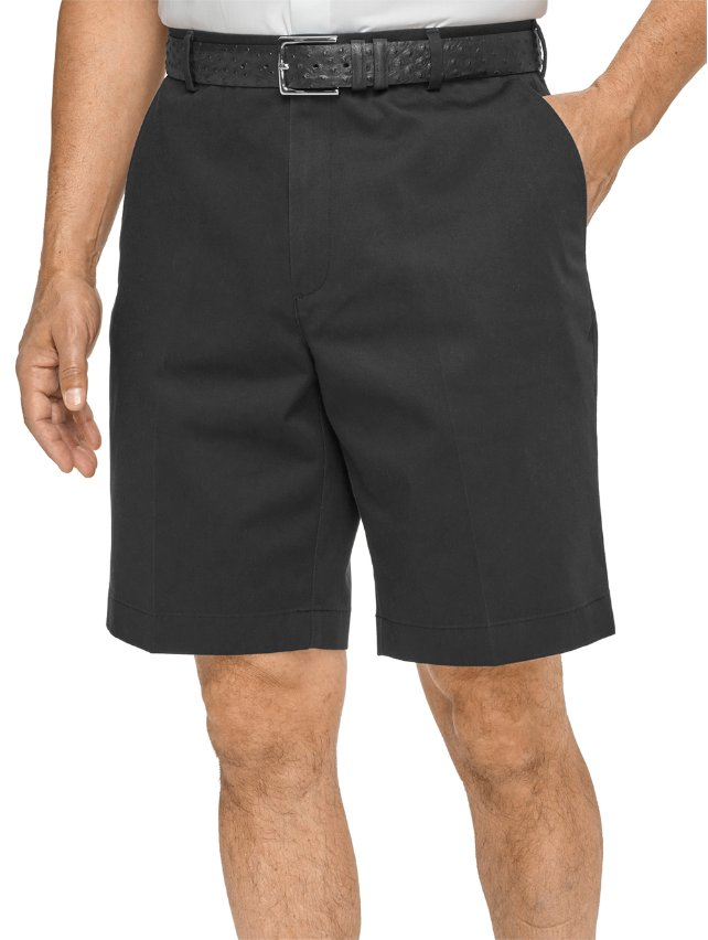 100% Cotton Non-Iron Chino Flat Front Shorts