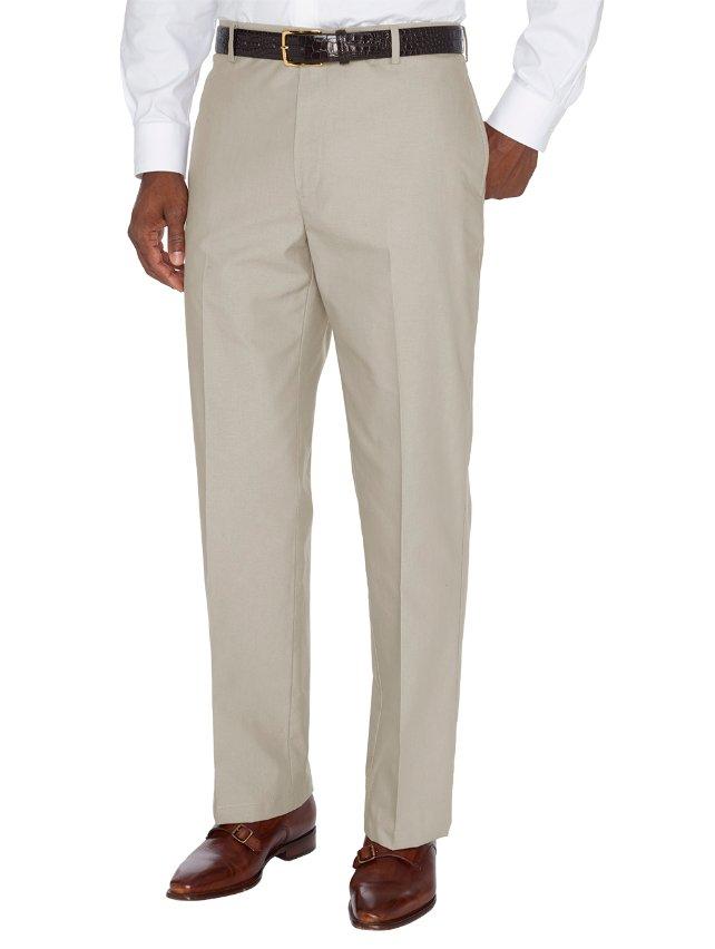 Non-Iron Supima Dress Chino Flat Front Pants