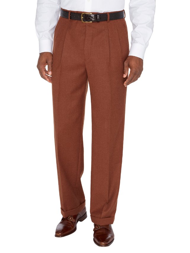 Wool And Cashmere Pleated Pants