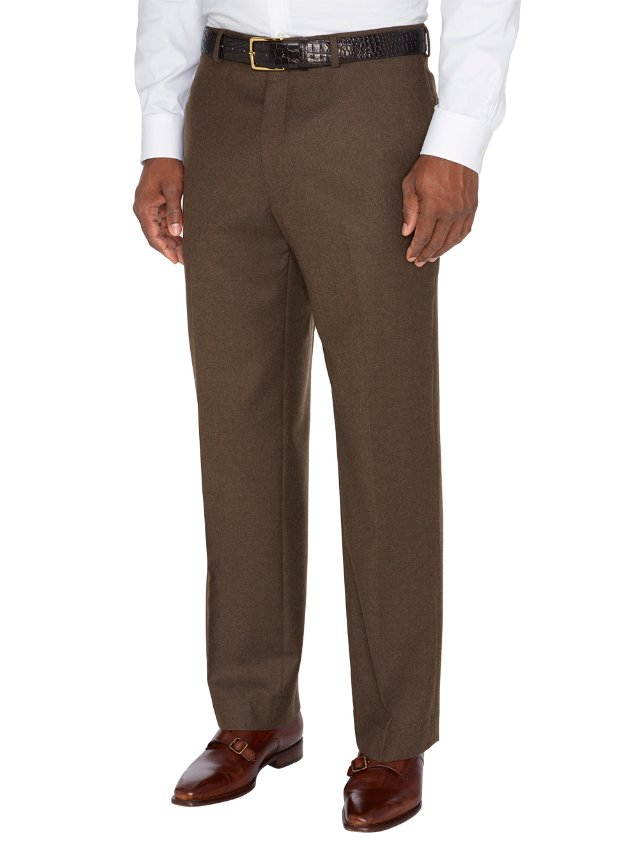 Wool And Cashmere Flat Front Pants