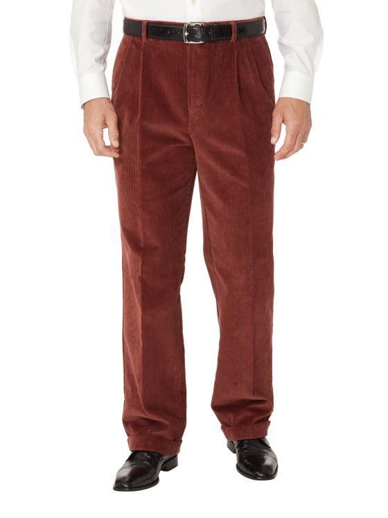 Cotton Corduroy Pleated Pants