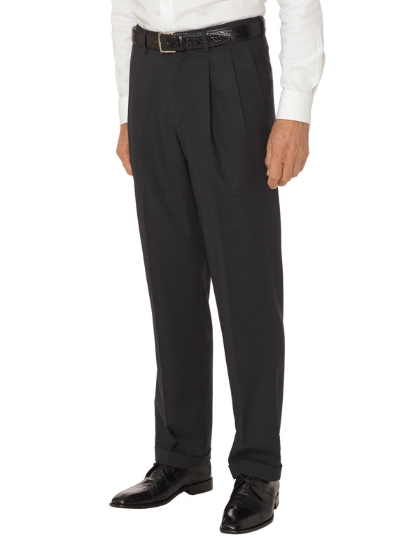 Tailored Fit Impeccable Pleated Travel Pant