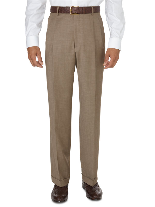 Classic Fit Impeccable Wool Pleated Pant
