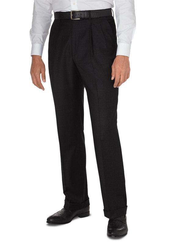 Classic Fit Luxury Super 120's Italian Wool Pleated Pant