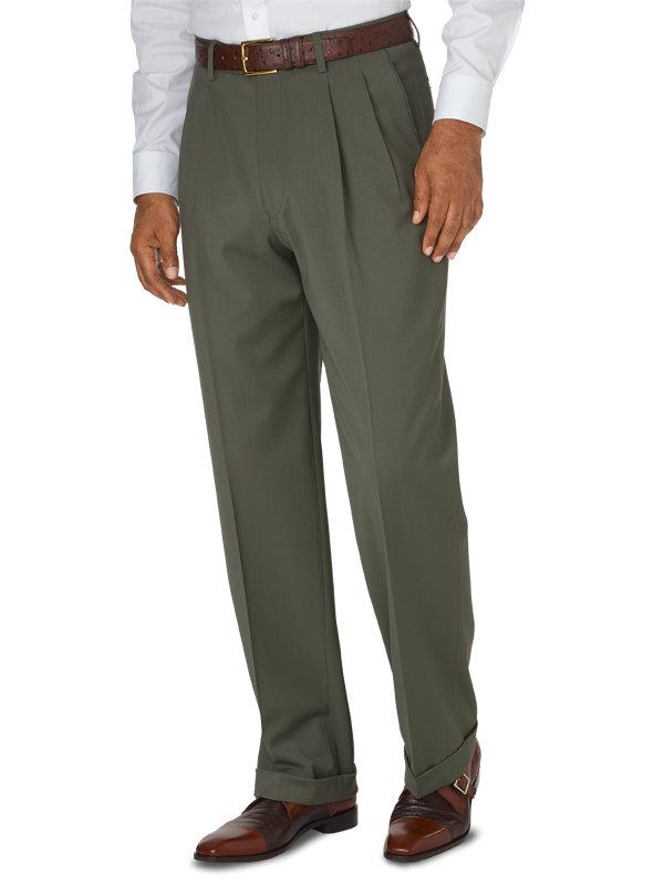 Classic Fit Italian Wool Pleated Pant