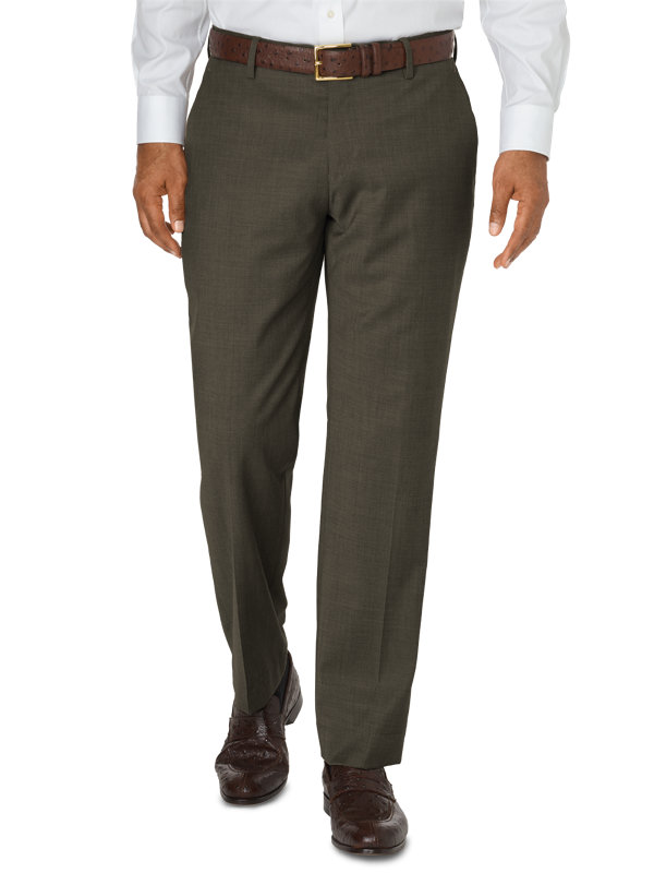 Tailored Fit Impeccable Wool Flat Front Pant