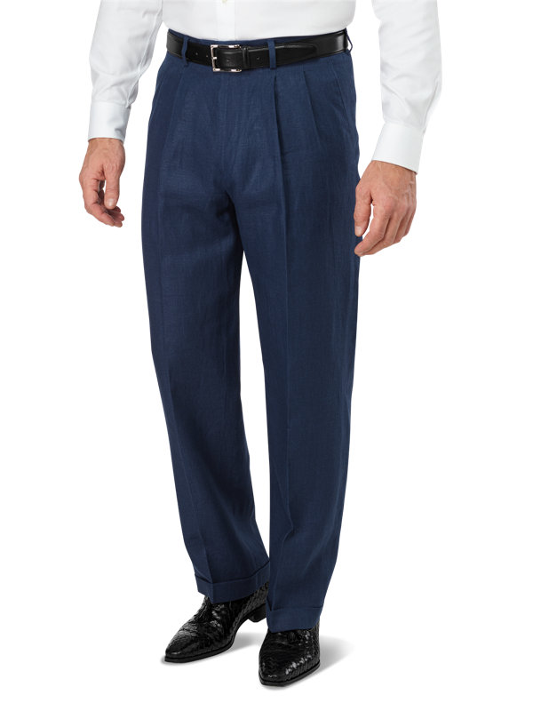 Linen Pleated Pant