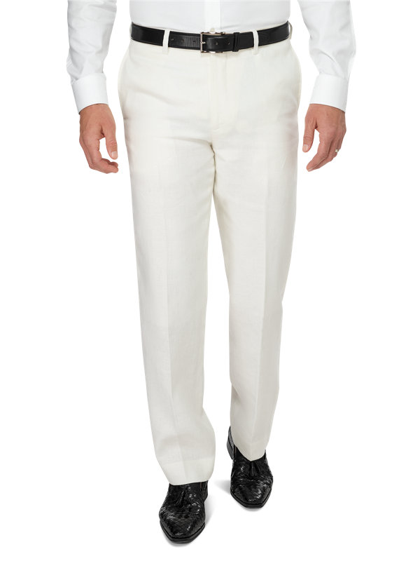 Linen Flat Front Pant