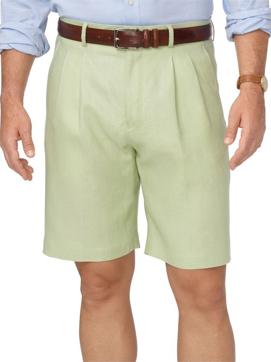 Linen Pleated Shorts