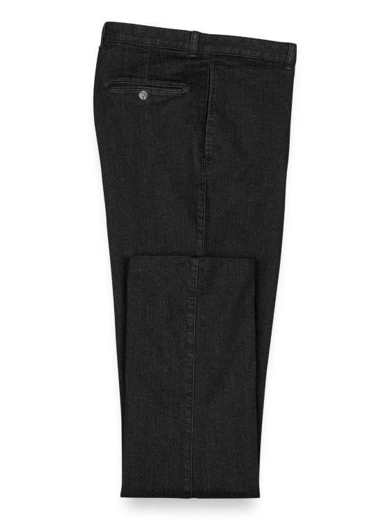 Tailored Fit Dress Denim Flat Front Pant