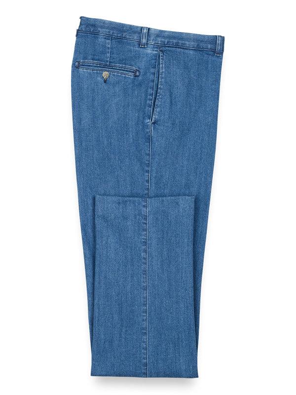 Flat Front Denim Jeans