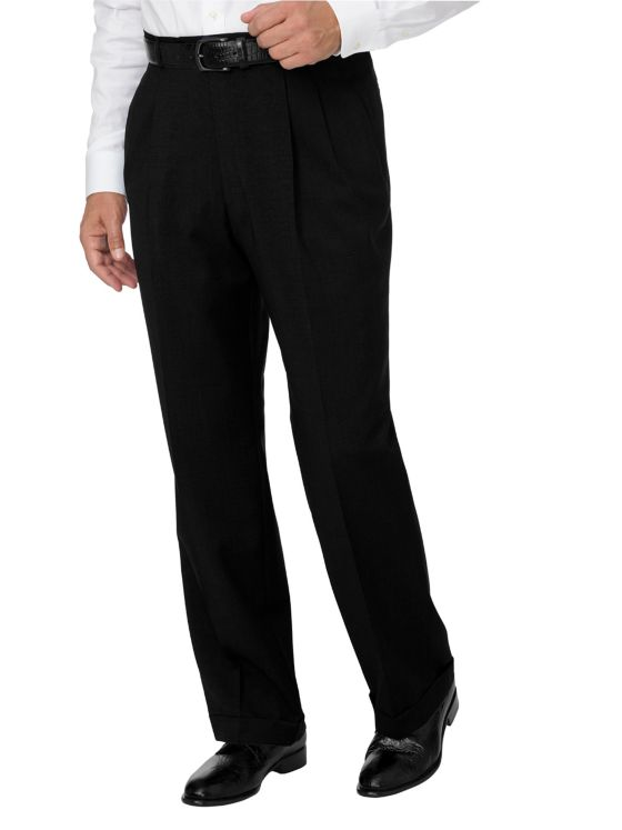 Italian Washable Wool Pleated Pant
