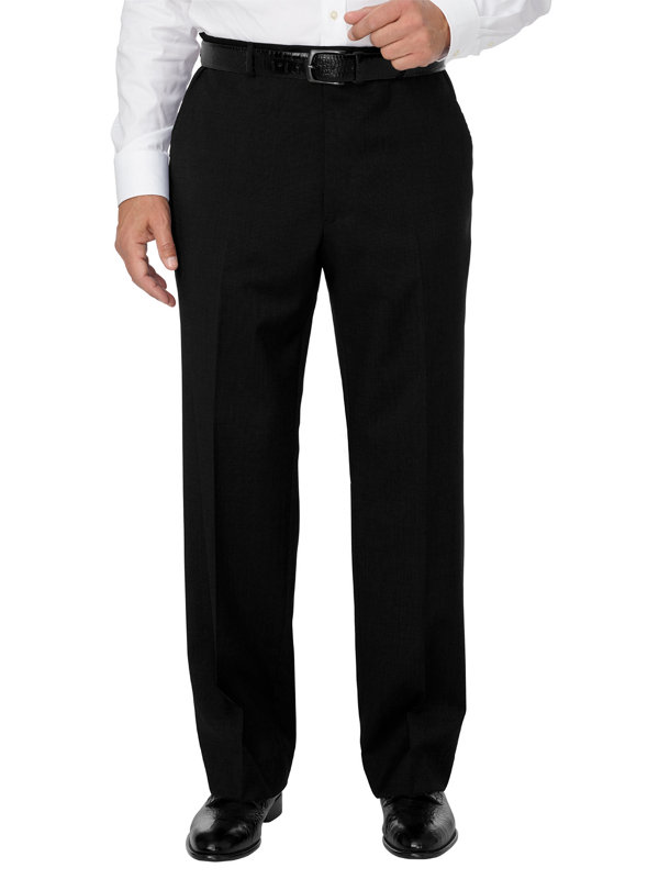Italian Washable Wool Flat Front Pant