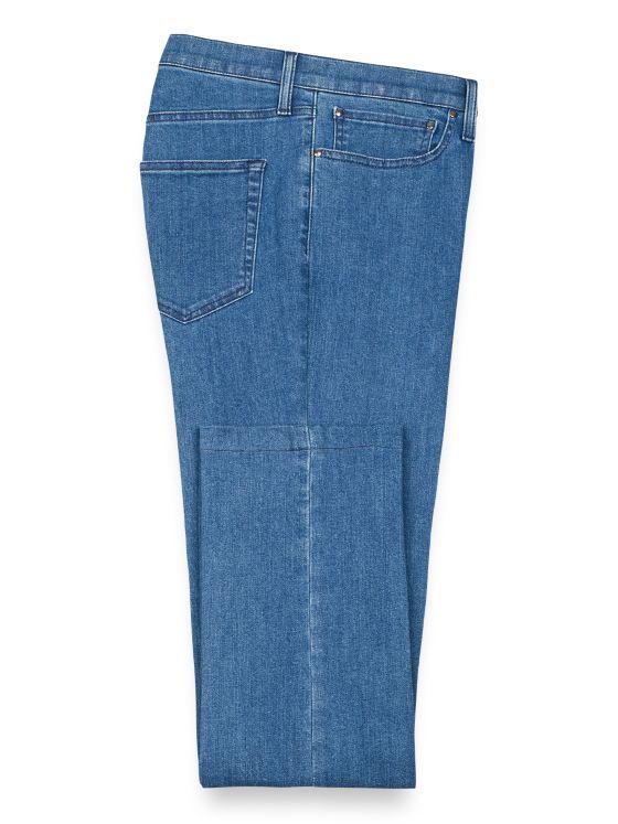 Denim Five-pocket Flat Front Pant