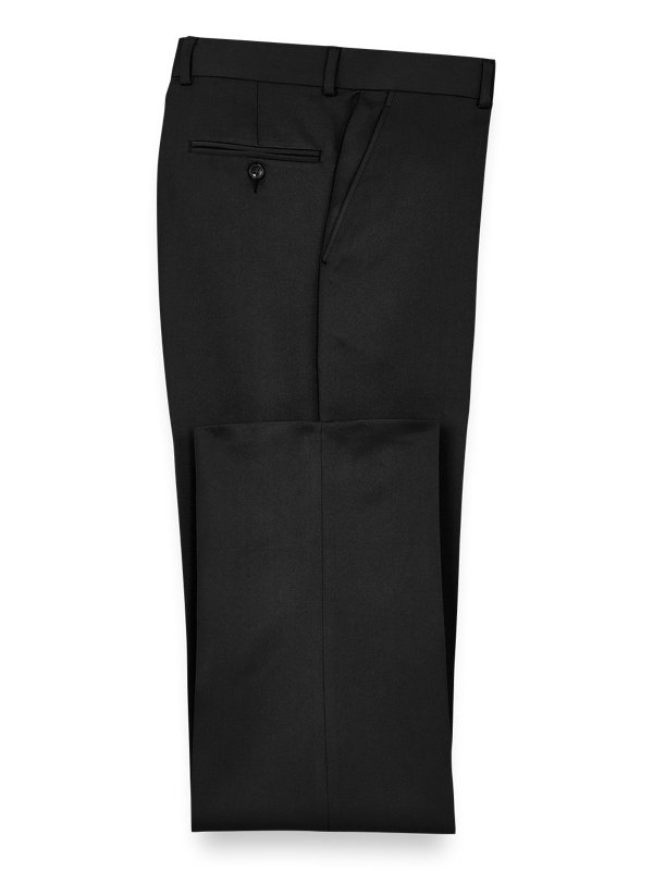 Microfiber Tailored Fit Flat Front Pants