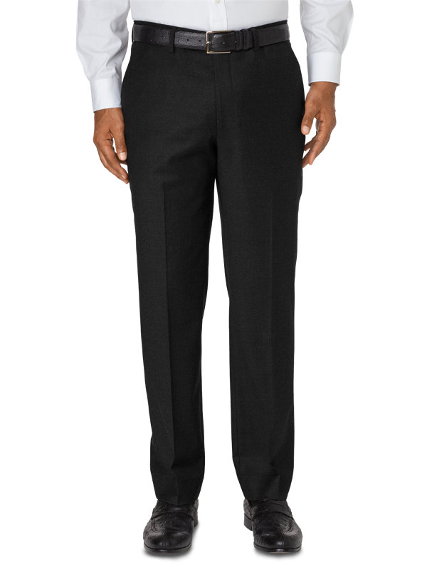 Tailored Fit Luxury Italian Wool Flat Front Pant