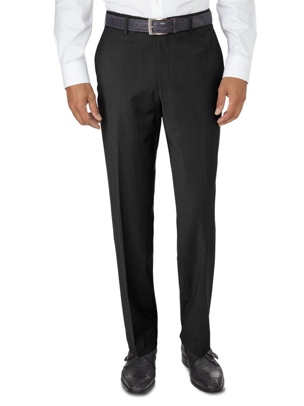 Tailored Fit Italian Wool Flat Front Pant