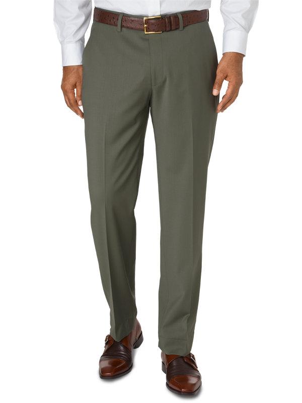 Italian Wool Flat Front Pants