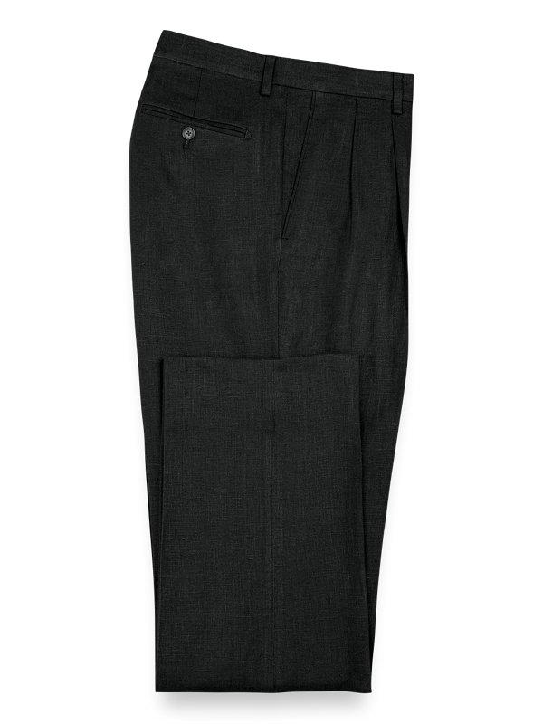 Linen Pleated Pants