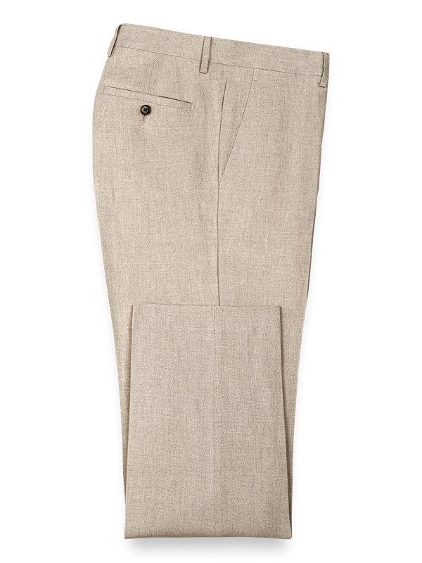 Linen Flat Front Pants