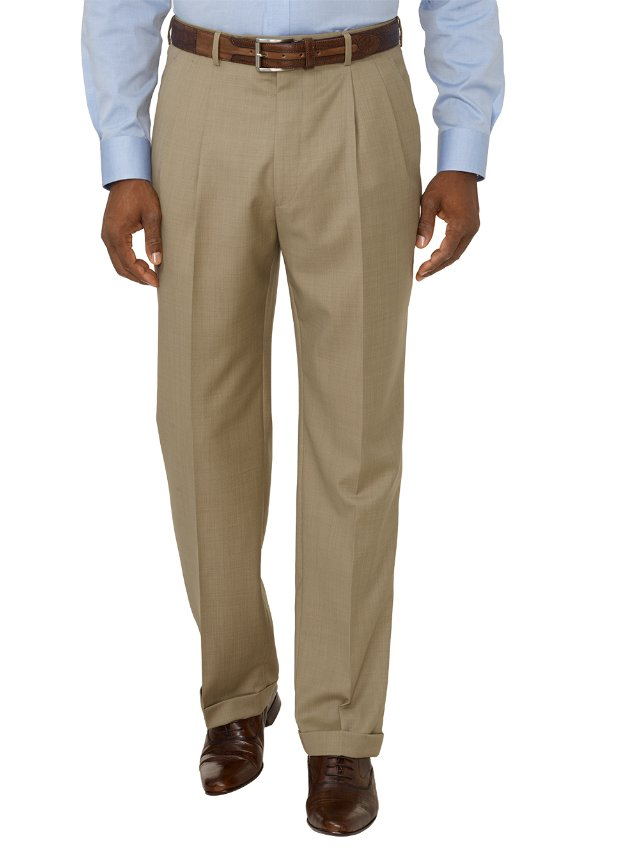 Super 120's Italian Wool Pleated Pants