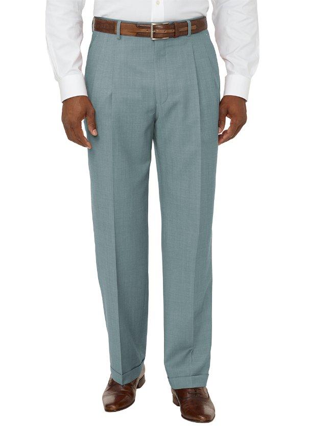 Super 100's Wool Pleated Pants