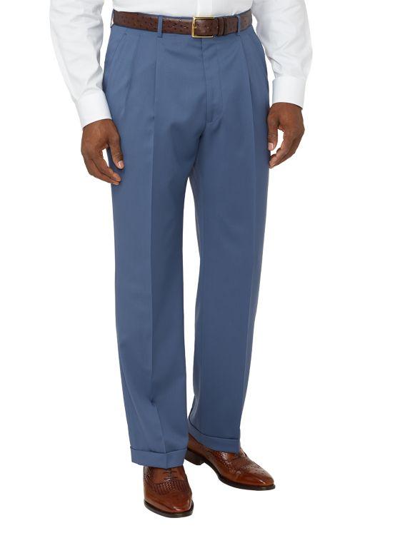Super 130's Italian Wool Pleated Pants