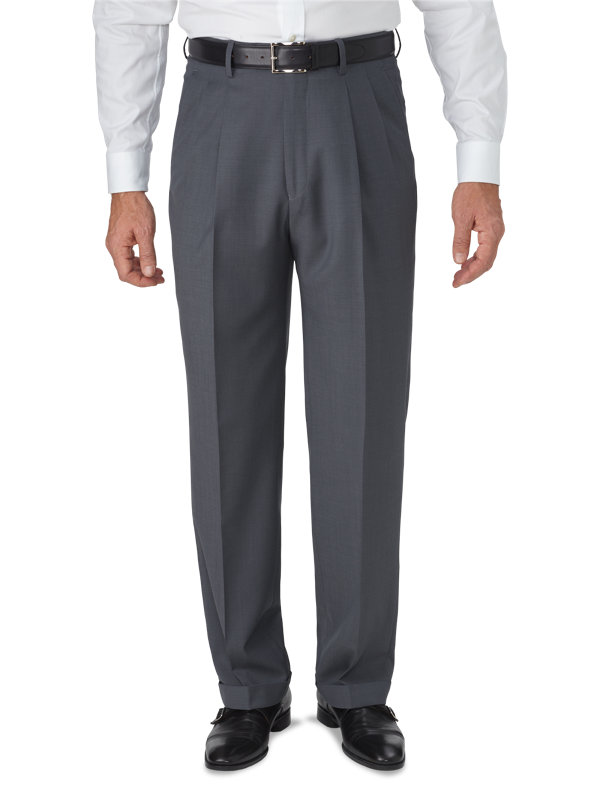 Classic Fit Luxury Wool Pleated Pant