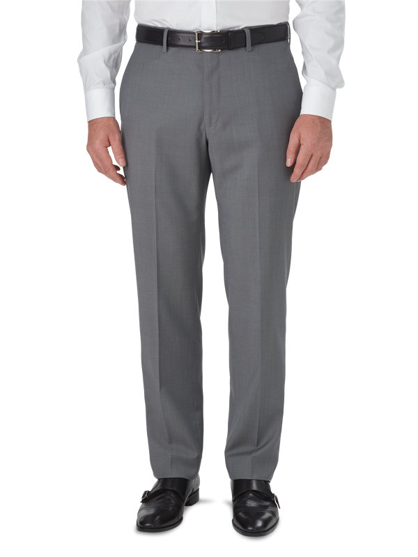 Tailored Fit Luxury Wool Flat Front Pant