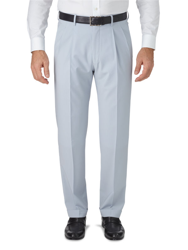 Classic Fit Italian Wool Pleated Pant