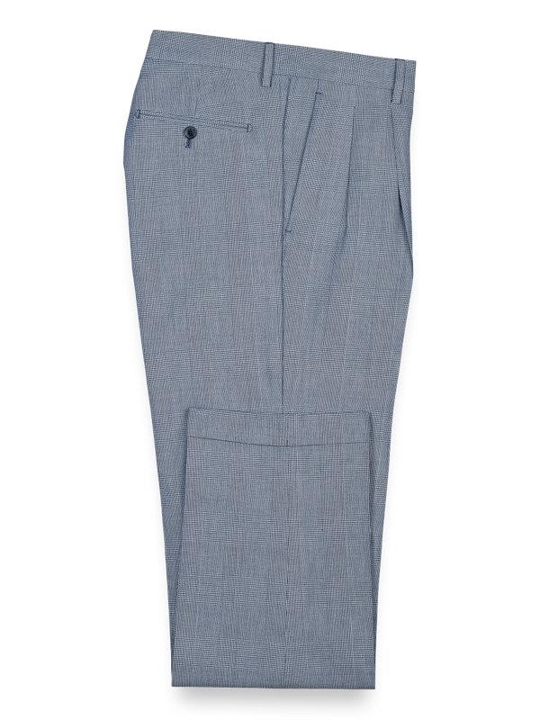 Cotton Glen Plaid Pleated Pants