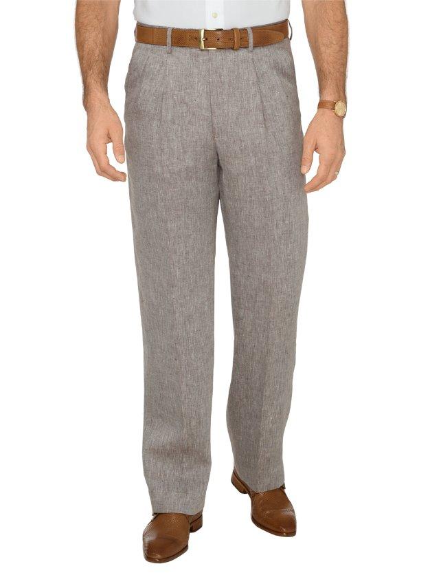 Linen Patterned Pants