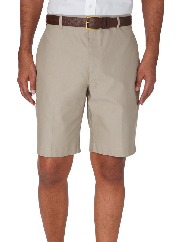 Non-Iron Supima Cotton Solid Flat Front Shorts