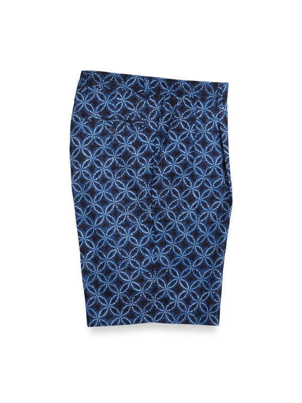 Cotton Printed Pleated Shorts