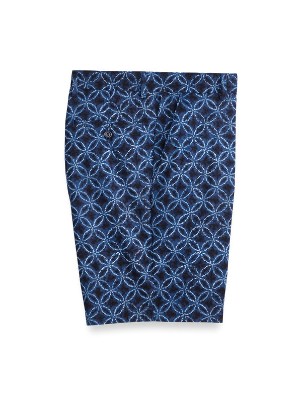 Cotton Printed Flat Front Shorts