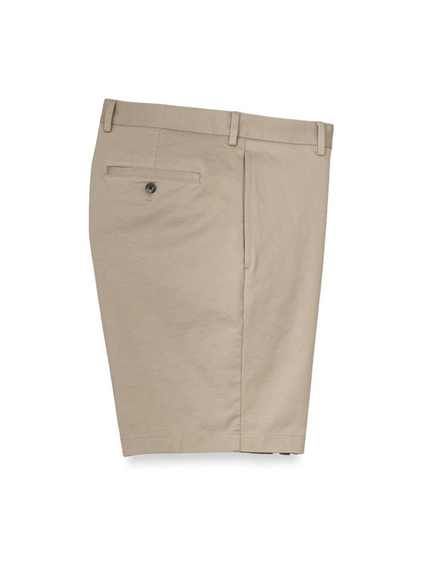 Knit Flat Front Shorts