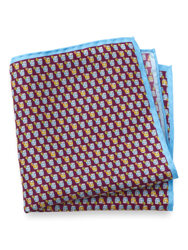Silk Old Fashioned Cocktail Pocket Square