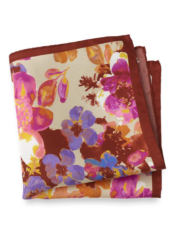Silk Floral Pocket Square
