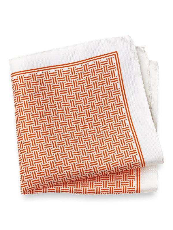 Silk Basketweave Pocket Square