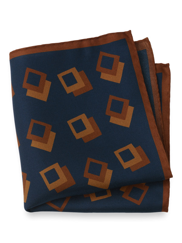 Silk Geometric Pocket Square