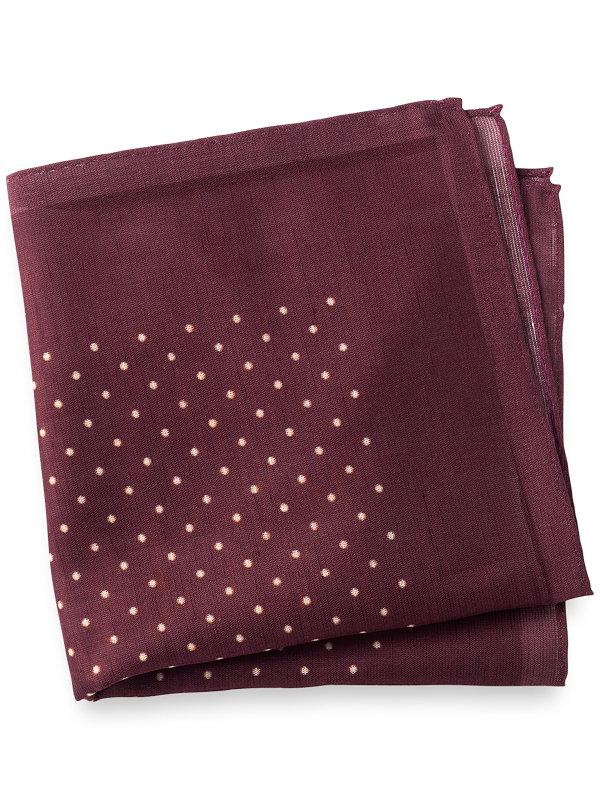 Printed Cotton & Linen Dot Pocket