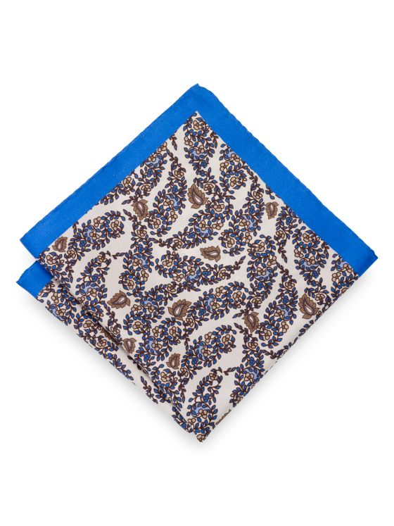 Silk Botanical Pocket Square