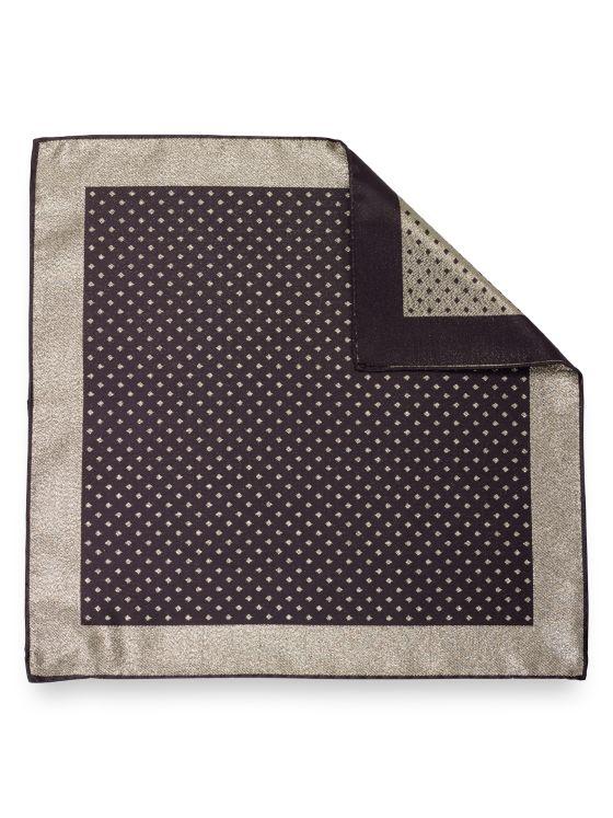 Silk Geometric Pocket Square