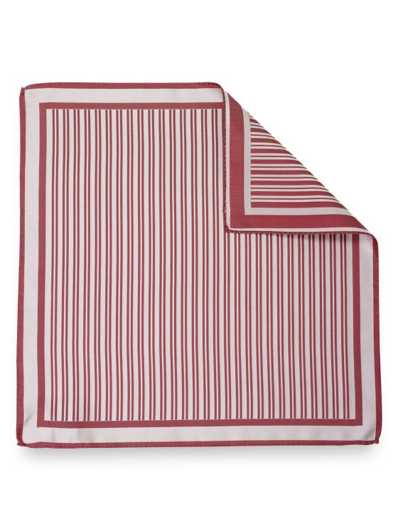 Silk Stripe Pocket Square