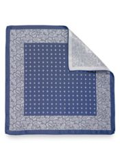 Silk Mini Medallion Pocket Square