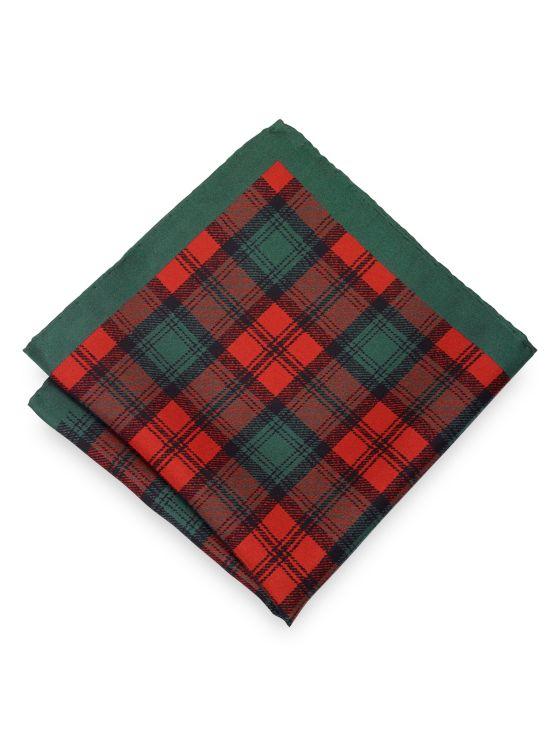Silk Plaid Pocket Square