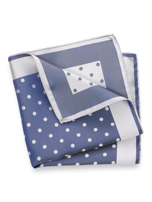 Woven Silk Dot Pocket Square