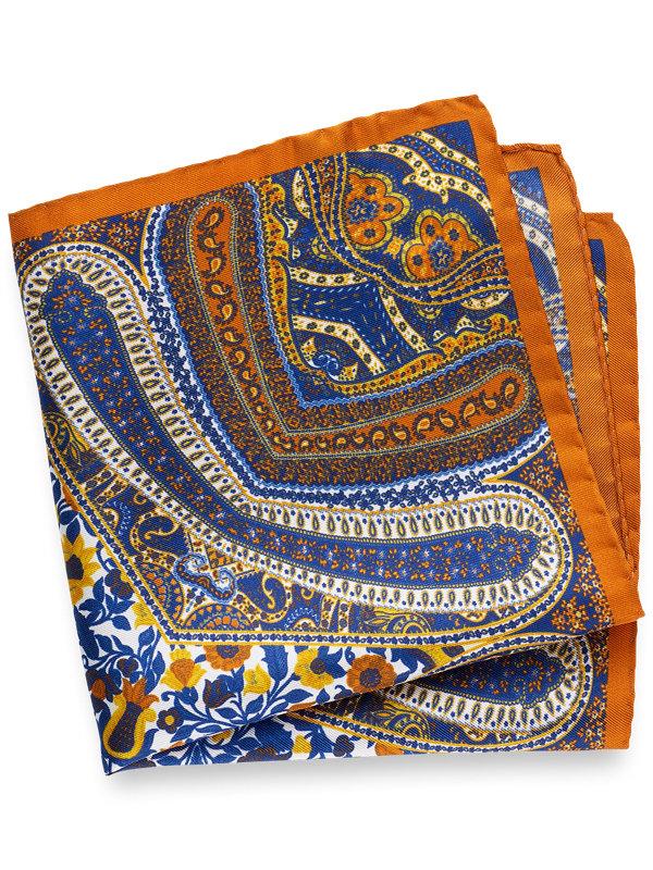 Printed Silk Paisley Pocket Square