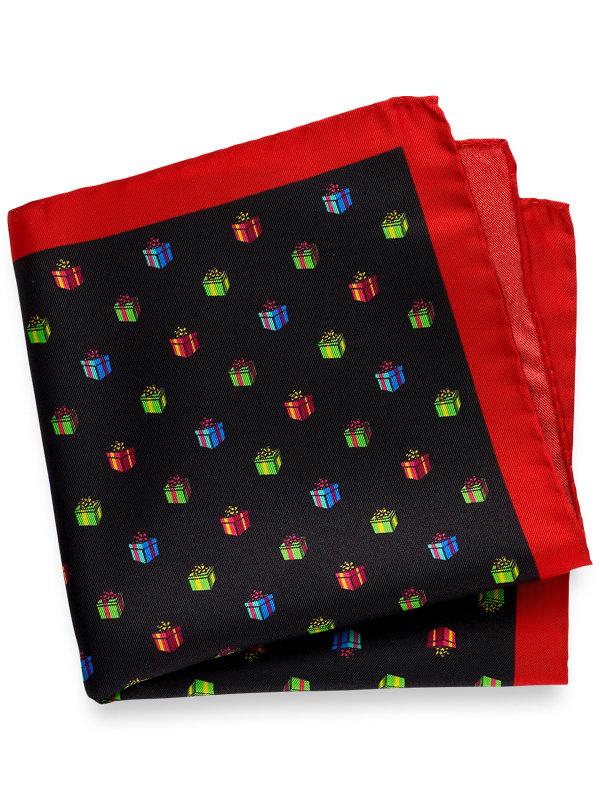 Printed Silk Presents Pocket Square
