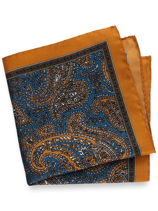 Printed Silk Pailsey Pocket Square